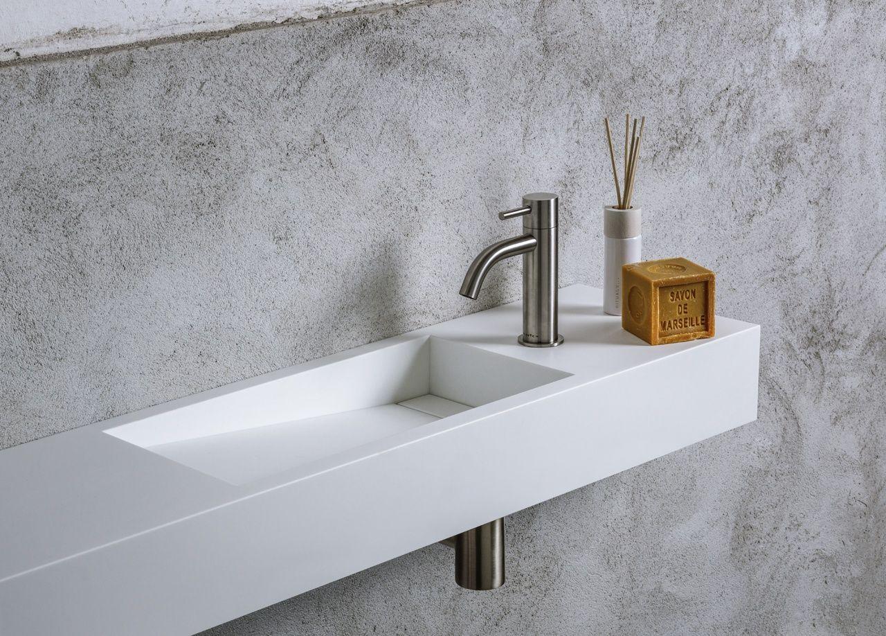 Toiletfonteinen van solid surface strak en duurzaam b dutch