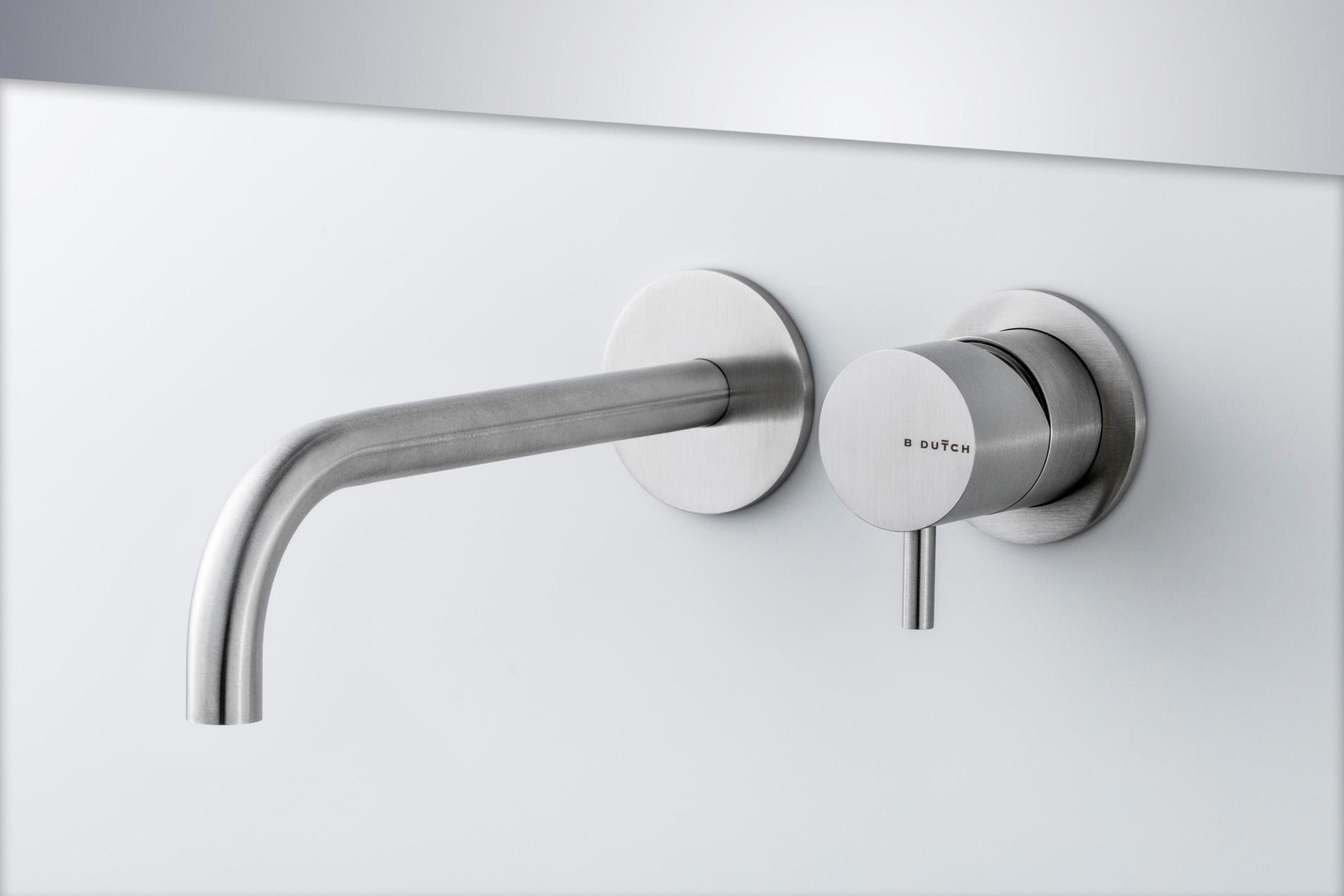 rvs wandkranen- design wandkranen- moderne badkamers