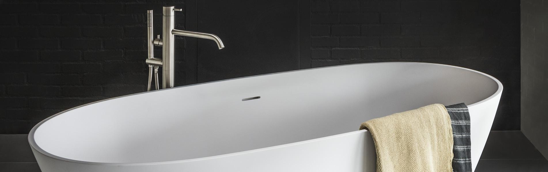 Ligbad LB Oval Round 1700 mm. Ligbaden van B DUTCH. Dutch design ligbaden, badkuipen, losstaand baden, bad vrijstaand, vrijstaand ligbad en losstaande baden. Vervaardigd van topkwaliteit Solid Surface B-Solid, verkleurt niet. Ook op maat te maken.