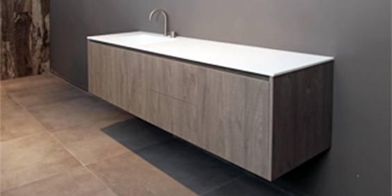 Badkamermeubel zonder wasbak pj door badkamermeubel met waskom