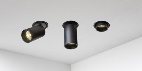 Trimless spots LED, inbouwspots van B Dutch, badkamerverlichting, badkamer spotjes led, badkamer lamp, led verlichting badkamer. Een moderne collectie trimless inbouwspots die worden weggewerkt in het plafond. Vierkante modulaire multiple spots led. B Dutch design voor badkamers en keukens.