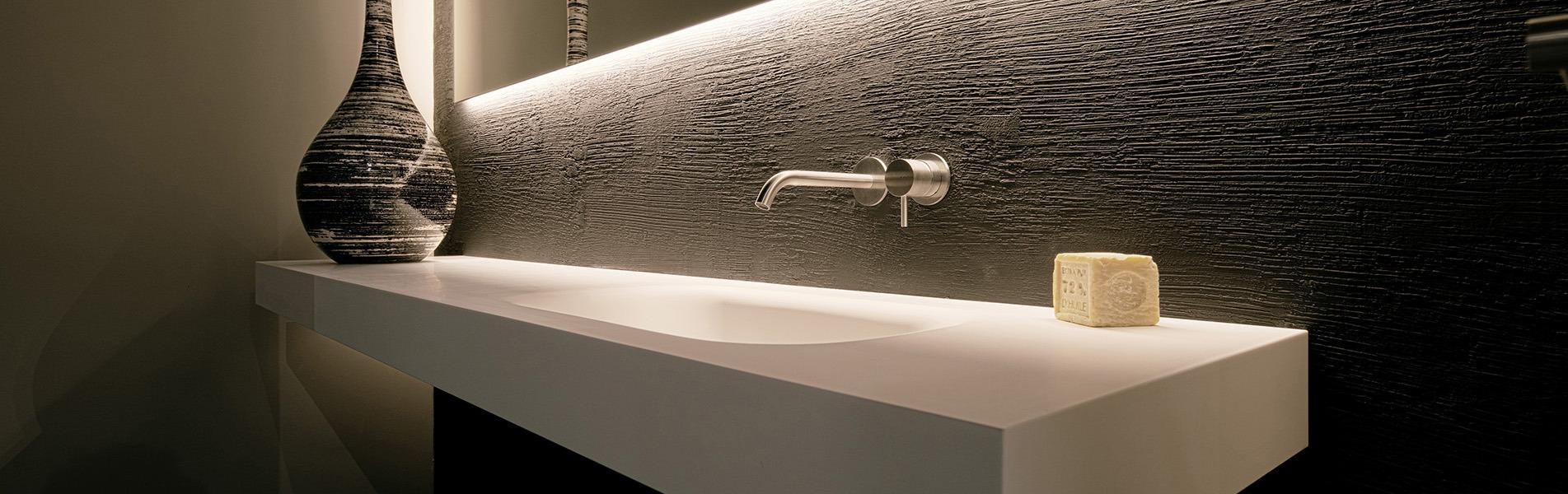 Design corian wastafels BDutch. BDutch, moderne design badkamer concepten.