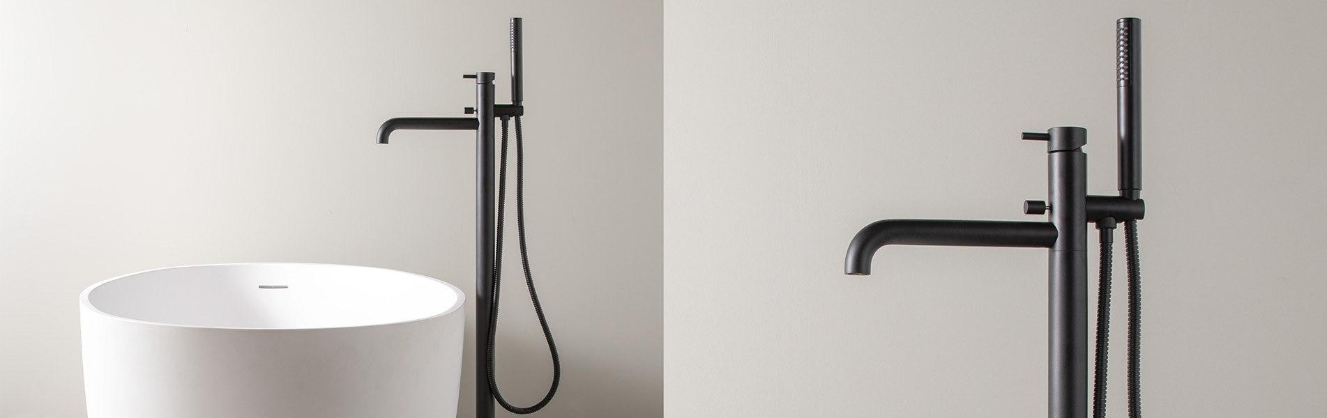 Zwarte Kraan Keuken.Mat Zwarte Kranen Voor Badkamers En Keukens Moderne Design Zwarte