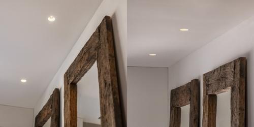 Trimless spots van B DUTCH. Deze spots hebben geen rand en worden in het plafond gestuct. De frameless inbouwspots zijn met LED verlichting en dimbaar. B DUTCH heeft een groot programma Trimless LED Spots.