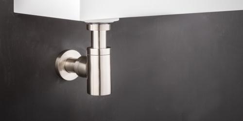RVS Sifon voor wastafels, wasbakken en waskommen van B DUTCH. Design sifon van hoogwaardig geslepen RVS.