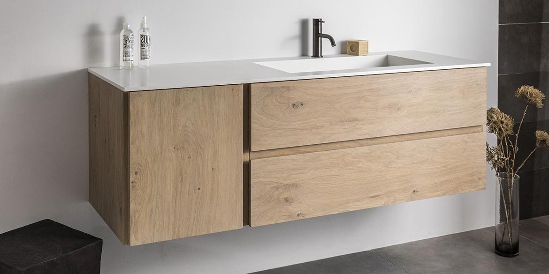 Catania badkamermeubelen van B DUTCH. Luxe maatwerk badkamermeubelen, badkamerkasten, badmeubel. Wastafelmeubel Catania is leverbaar in diverse maten en uitvoeringen, op maat.