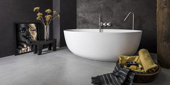 Ligbad Solid Surface Corian mat wit, LB Oval Round 1700 mm. Ligbaden van B Dutch. Dutch design ligbaden, badkuipen, losstaand baden, bad vrijstaand, vrijstaand ligbad en losstaande baden. Vervaardigd van topkwaliteit Solid Surface Corian, verkleurt niet. Ook op maat te maken.
