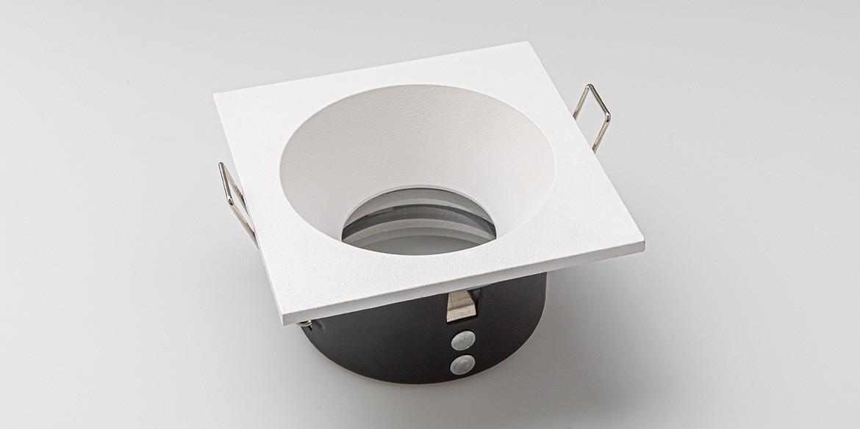 Armatuur B Dutch Led Inbouwspot Badkamer Rounded Square Essential Ip65 Recessed Matt White 86x86x45mm B Dutch