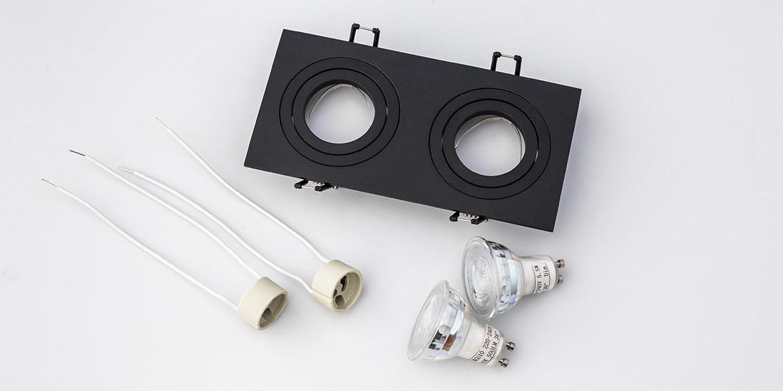 Dubbele inbouwspots mat wit LED inbouwspots, twee naast elkaar. Rechthoekige inbouw spots. B DUTCH The Essential LED spots collectie. Dubbele inbouwspots mat zwart LED inbouwspots, twee naast elkaar. Rechthoekige inbouw spots. B DUTCH The Essential LED spots collectie. Diverse maten, mat zwarte spots, mat witte spots en geborsteld aluminium LED spots voor GU10, MR16 en Philips Hue GU10 lichtbronnen.