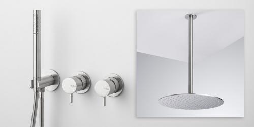 RVS design kranen B DUTCH, RVS badkraan, RVS vrijstaande badkranen, hoogwaardig geslepen RVS. B DUTCH is een producent van hoogwaardige keukens en badkamers incl maatwerk direct af-fabriek.