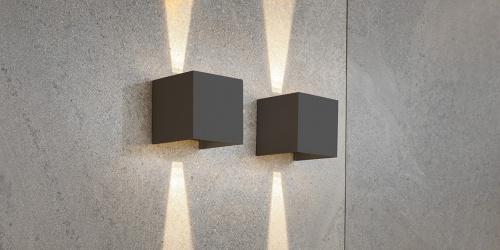 B DUTCH wandspot UPDOWN, moderne muurspot in een donkergrijze kleur