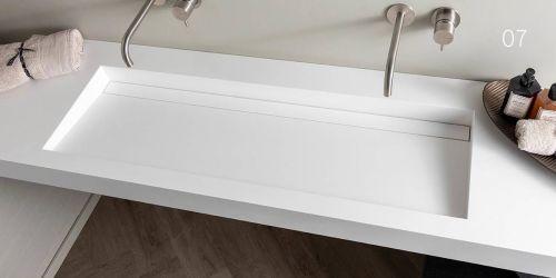 Corian wastafel, B DUTCH Solid Surface wastafel van topkwaliteit Corian. Model Saint Barth Large.