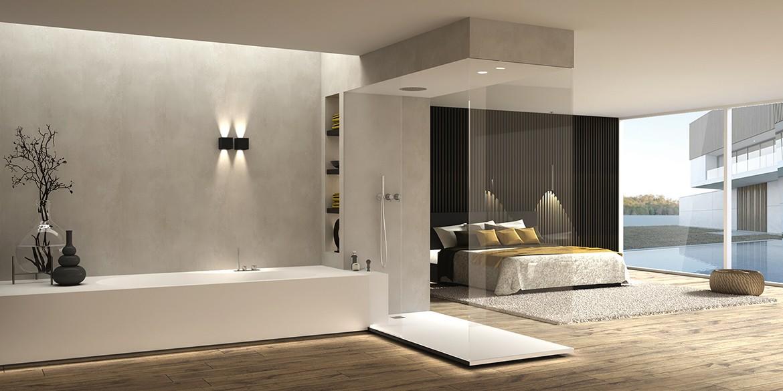 Luxe badkamers van B DUTCH. Design badkamers compleet programma design badkamer elementen. Badkamer inspiratie opdoen? Bezoek de fabrieksshowroom, badkamer showroom, van BDUTCH in Cuijk. Badkamer ontwerpen, badkamer inspiraties opdoen. Dit Solid Surface Corian Hi-Macs ligbad mat wit en de RVS vrijstaande badkamer kranen zijn mooie voorbeelden uit onze eigen B DUTCH collectie badkamer elementen voor tijdloze interieurs.
